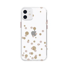 Fellowes CRC97743 Clear with Rose Gold Metallic Glitter Dots Phone Case for iPhone 12/Pro - Brand New