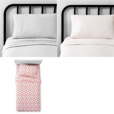 150 Pcs - Bedding Sets, Sheets & Pillowcases - New - Retail Ready - Hearth & Hand with Magnolia, Pillowfort
