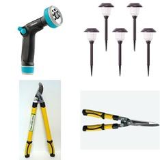 3 Pallets – 204 Pcs – Accessories, Gardening Hand Tools, Patio & Outdoor Lighting / Decor, Trimmers & Edgers – Customer Returns – Gilmour, Fiskars, Formosa Tools Co., Ltd., Scotts