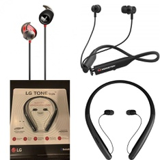 28 Pcs – Headphones & Portable Speakers – Tested NOT WORKING – LG, Bose Corporation, BOSE, Anker
