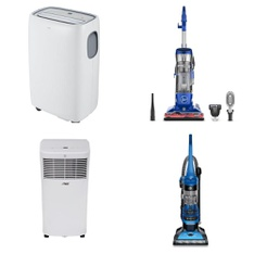 Pallet - 7 Pcs - Vacuums, Air Conditioners - Customer Returns - Hamilton Beach, Hoover, TCL, Arctic King