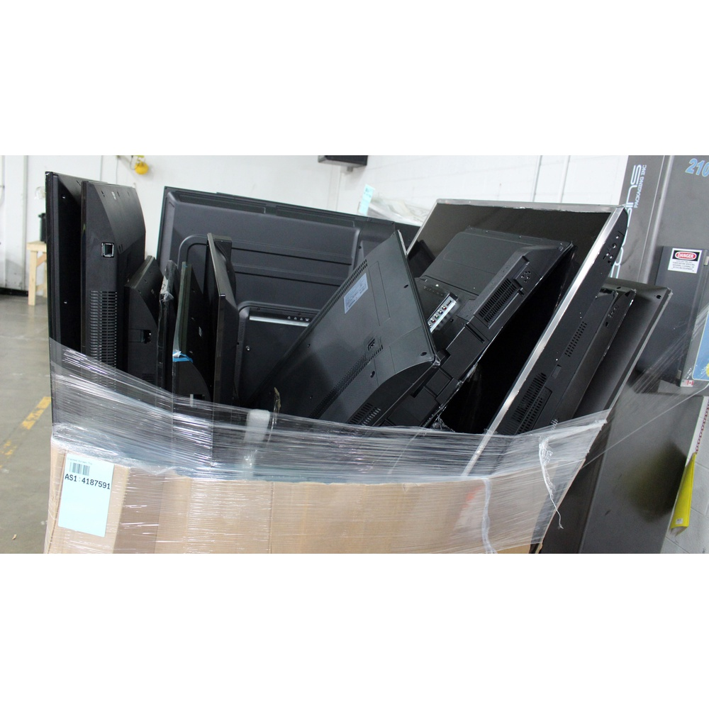 6 Pallets - 116 Pcs - TVs - Tested Not Working (Cracked Display) - VIZIO,  Samsung, HISENSE, TCL