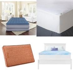Pallet – 31 Pcs – Covers, Mattress Pads & Toppers, Comforters & Duvets – Customer Returns – Mainstay's, Beautyrest, Aller-Ease, Dream Serenity