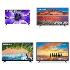 12 Pcs - LED/LCD TVs - Refurbished (GRADE A) - LG, Samsung, VIZIO, TCL