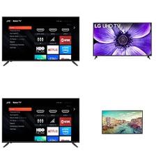 36 Pcs – LED/LCD TVs – Refurbished (GRADE A, GRADE B) – LG, JVC, TCL, VIZIO