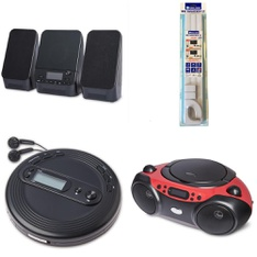 Pallet - 203 Pcs - Accessories, Receivers, CD Players, Turntables - Customer Returns - onn., Onn, GE, Wire Trak