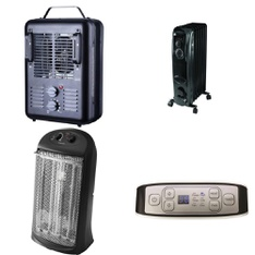 Pallet – 38 Pcs – Heaters – Customer Returns – Utility, Mainstay's