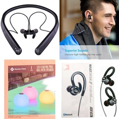 25 Pcs – Headphones & Portable Speakers – Refurbished (GRADE A, GRADE B) – Blackweb, Members Mark, Anker, UNBRANDED