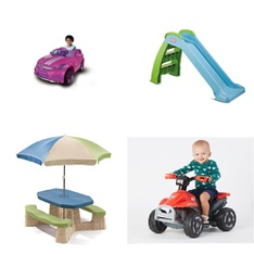 Pallet - 7 Pcs - Vehicles, Kids - Customer Returns - Step2, Movelo, MGA Entertainment, American Plastic Toys