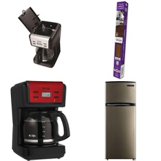 12 Pallets - 231 Pcs - Drip Brewers / Perculators, Bedroom, Hardware, Living Room - Customer Returns - Mr. Coffee, Mainstays, Select Surfaces, Mainstay's