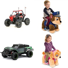 3 Pallets – 71 Pcs – Vehicles, Trains & RC, Vehicles, Not Powered – Customer Returns – New Bright, Huffy, Jetson, Adventure Force