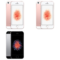 5 Pcs - Apple iPhone SE - Refurbished (GRADE A - Unlocked) - Models: 3A850LL/A, 3C718LL/A, MP7T2LL/A