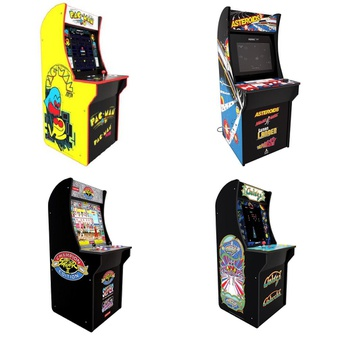 Pallet – 7 Pcs – Video Games & Gaming Software – Customer Returns – Arcade 1UP, ARCADE1up, Red Planet