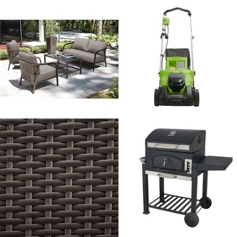 Pallet – 4 Pcs – Patio, Mowers – Customer Returns – HomeTrends, GreenWorks, Backyard Grill