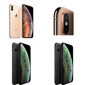 5 Pcs – Apple iPhone Xs – Refurbished (GRADE B – Unlocked) – Models: MT992LL/A, MT9A2LL/A, MT962LL/A, 3D925LL/A