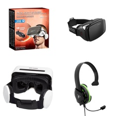 64 Pcs - Video Game Headsets - Refurbished (GRADE A, GRADE B, No Power Adapter) - Model: Utopia 360 Degree VR Headset with Bluetooth Headphones & Controller, Wired Headsets and Headphones, Black/White, HOMIDOV2, TBS-2408-01