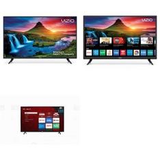 8 Pcs – LED/LCD TVs – Refurbished (GRADE A, No Stand) – VIZIO, TCL