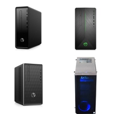 15 Pcs - Desktop Computers - Refurbished (GRADE A, GRADE B - No Power Adapter) - HP, IBUYPOWER, DELL