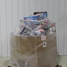 3 Pallets - 134 Pcs - Toys - Vehicles, Trains & RC, Dolls, Boardgames, Puzzles & Building Blocks, Action Figures - Customer Returns - New Bright, Adventure Force, Little Live Pets, John Deere