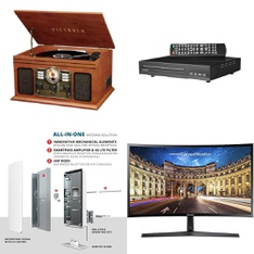 Pallet - 41 Pcs - Receivers, CD Players, Turntables, DVD & Blu-ray Players - Customer Returns - Victrola, Antop, onn.