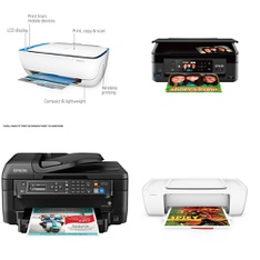 Pallet - 43 Pcs - All-In-One, Inkjet - Damaged / Missing Parts - HP, EPSON, Canon, HEWLETT PACKARD