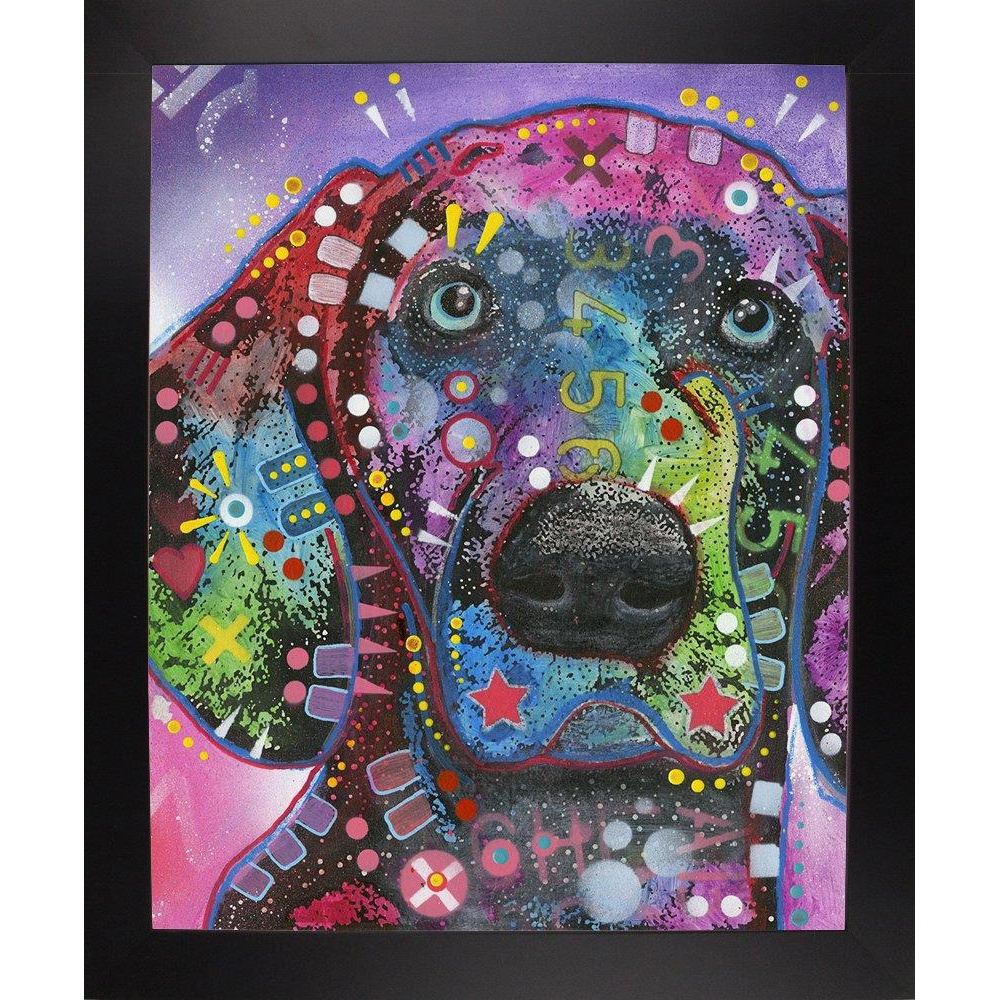 Frame USA Smiling Collie Framed 39.5x31.75 by Dean Russo-Exclusive-DEAEXL138356 Print 39.5x31.75 Affordable Black Large