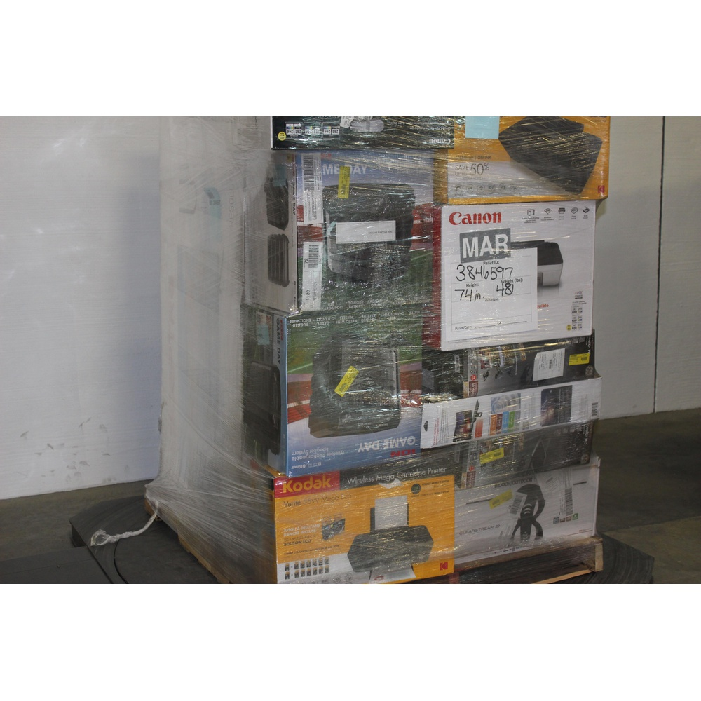 6 Pallets - 287 Pcs - All-In-One, Accessories, Portable Speakers, DVD &  Blu-ray Players - Customer Returns - Canon, GE, Blackweb, Onn