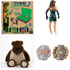 Pallet - 250 Pcs - Action Figures, Boardgames, Puzzles & Building Blocks, Dolls, Stuffed Animals - Customer Returns - Hasbro, Gund, Beyblade, Zing