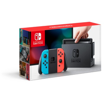 6 Pcs – Nintendo HACSKABAA Switch Gaming Console with Neon Blue and Neon Red Joy-Con – Refurbished (GRADE A) – Video Game Consoles