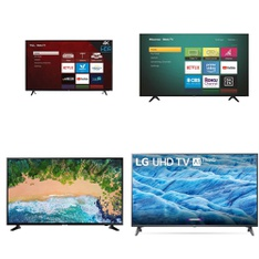 Truckload - 20 Pallets - 197 Pcs - TVs - Tested Not Working (Cracked Display) - Samsung, TCL, LG, HISENSE