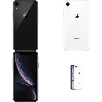 15 Pcs – Apple iPhone XR – Refurbished (GRADE B – Unlocked) – Models: MRYY2LL/A, MRYR2LL/A, MT012LL/A, MT3K2LL/A