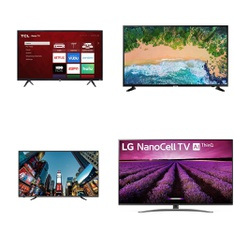 12 Pcs – LED/LCD TVs – Refurbished (GRADE A, GRADE B) – RCA, Samsung, TCL, PROSCAN