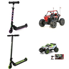 3 Pallets - 132 Pcs - Vehicles, Trains & RC, Not Powered, Action Figures - Customer Returns - New Bright, Jetson, Paw Patrol, Madd Gear