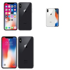 5 Pcs - Apple iPhone X - Refurbished (GRADE A - Unlocked) - Models: MQAM2LL/A, MQA52LL/A, MQA62LL/A