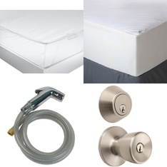 3 Pallets - 189 Pcs - Hardware, Covers, Mattress Pads & Toppers, Kitchen & Dining, Smoke Alarms & CO Detectors - Customer Returns - Brinks, Kidde, Mainstay's, Aller-Ease