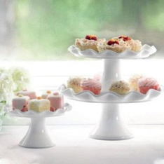 50 Pcs – Member's Mark 3-Piece Cake Stand Set – New – Retail Ready