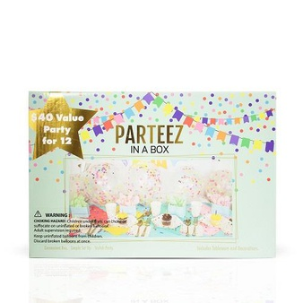 18 Pcs – Party In A Box Parteez 980214231 Celebration Party Set of 12 – New – Retail Ready