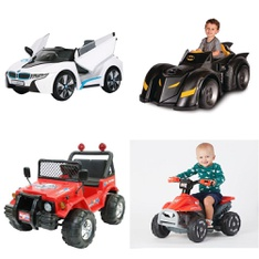Pallet - 5 Pcs - Vehicles - Customer Returns - Movelo, Batman, RollPlay, Little Tikes