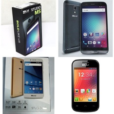 24 Pcs - Blu Smartphones - Refurbished (GRADE A - Not Activated) - Models: S690Q, S730P, D141W, S710U