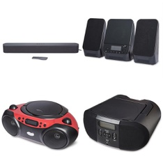 Pallet - 148 Pcs - Accessories, Speakers, Boombox - Customer Returns - Onn, onn., One For All
