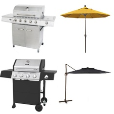 Pallet - 5 Pcs - Patio - Customer Returns - Mainstays, Backyard Grill, Backyard, California Umbrella