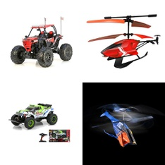 3 Pallets – 124 Pcs – Vehicles, Trains & RC, Boardgames, Puzzles & Building Blocks, Dolls, Water Guns & Foam Blasters – Customer Returns – New Bright, Adventure Force, Sky Rover, SkyRover