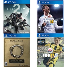 108 Pcs – Sony Video Games – Like New, New, Used – Destiny 2 Standard Edition (PS4), The Elder Scrolls Online: Gold Edition (PS4), FIFA 18 Standard Edition (PlayStation 4), FIFA 17- PS4
