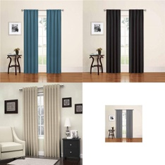 12 Pallets - 854 Pcs - Curtains & Window Coverings, Hardware, Covers, Mattress Pads & Toppers, Kitchen & Dining - Customer Returns - Eclipse, Mainstay's, Better Homes & Gardens, Brita