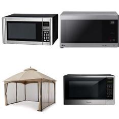 Pallet – 6 Pcs – Microwaves – Customer Returns – Hamilton Beach, Panasonic, HomeTrends, LG