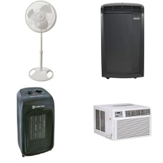6 Pallets - 124 Pcs - Fans, Heaters, Air Conditioners - Customer Returns - Lasko, GE, Comfort Zone, DeLonghi