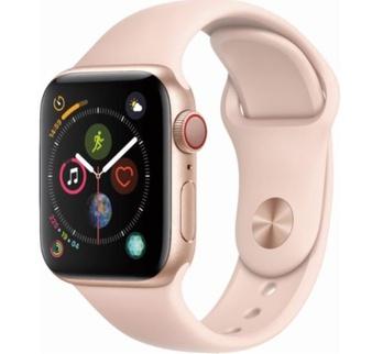 25 Pcs – Apple Watch Gen 4 Series 4 Cell 40mm Gold Aluminum – Pink Sand Sport Band MTUJ2LL/A – Refurbished (GRADE A)