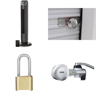 3 Pallets – 344 Pcs – Home Security & Safety, Hardware, Fans, Hand Tools – Customer Returns – Brink's, Mainstay's, Brinks, Bestway