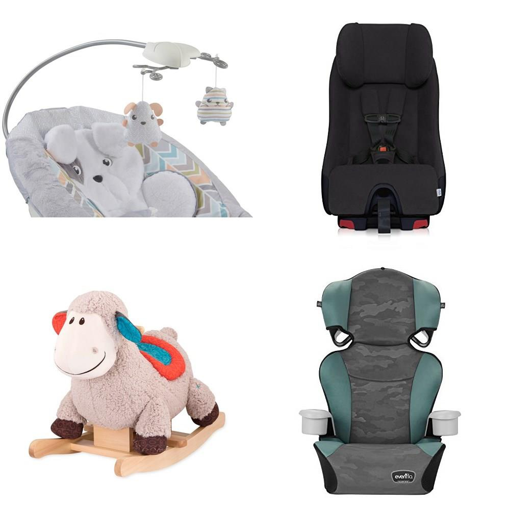 Pallet 16 Pcs Car Seats Walkers Swings Bouncers Customer Returns Fisher Price Graco B Toys By Battat