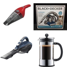 142 Pcs - Home -> Vacuums, Home -> Kitchen & Dining, Home -> Curtains & Window Coverings, Home -> Cleaning Supplies - Customer Returns - BLACK & DECKER, Bodum, As Seen On TV, Better Homes & Gardens
